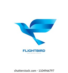 Flight bird - concept logo template vector illustration. Abstract wings creative sign. Graphic design element.