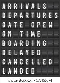 Flight board information display vector illustration
