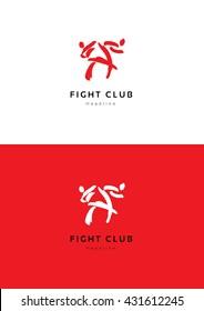 Flight club logo template.