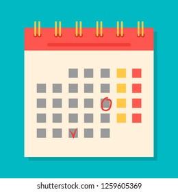 Flight Icon,  Image of the Calendar