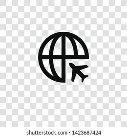flight icon from miscellaneous collection for mobile concept and web apps icon. Transparent outline, thin line flight icon for website design and mobile, app development