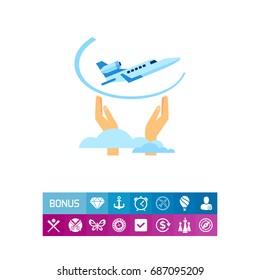 Flight Insurance Concept Icon