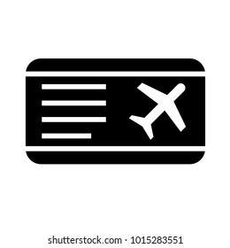 Flight Ticket Icon Glyph Vector