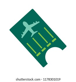 flight ticket icon - flight pass - airplane boarding sign - travel and tourism icon