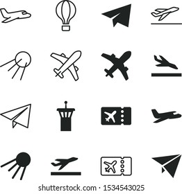 flight vector icon set such as: arrival, leisure, message, arrive, building, destination, newsletter, best, ride, grey, tower, balloon, basket, simple, landing, security, hot, safety, fun, traffic