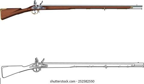flintlock muzzle loader musket