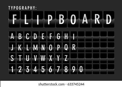 flip board typography vector