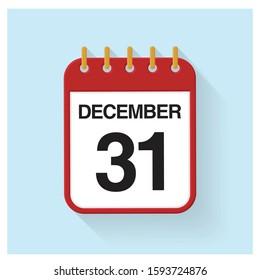 Flip Calendar Flat Design Sign Symbol Banner Button