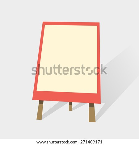 flip chart blank whiteboard presentation trainings stock vector