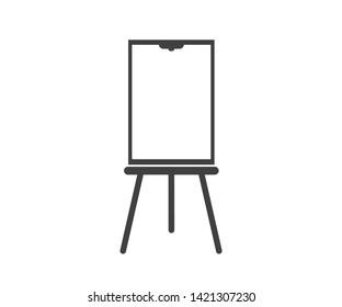 flip chart icon.  Presentation icon.
