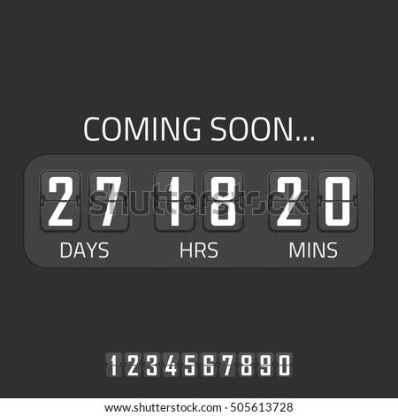 flip coming soon illustration countdown timer stock vector royalty