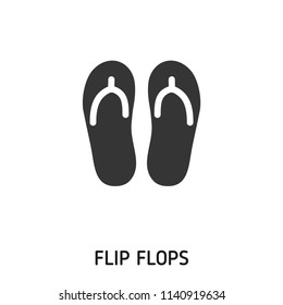 Flip Flops creative icon. Simple element illustration. Flip Flops concept symbol design from beach icon collection. Can be used for web, mobile and print. web design, apps, software, print