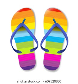 Flip Flops, With Gradient Mesh, Vector Illustration