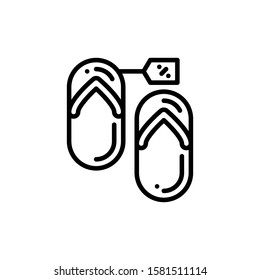 Flip Flops Icon Outline Vector. Holiday Sale Icons. Online Shop Ikon.