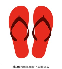 flip flops isolated icon design, vector illustration  graphic