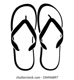 Flip flops isolated on a white background