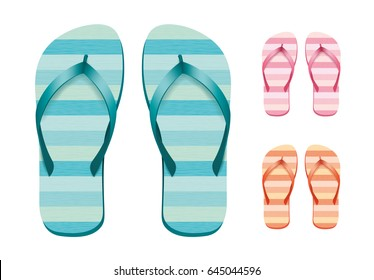 Flip flops set. Isolated vector design.