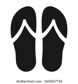 Flip flops slipper flat vector icon