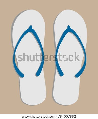 4490402a280d Flip Flops Top View On Gray Stock Vector (Royalty Free) 794007982 ...