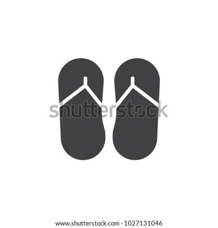 fdaf204e044bcb Flip flops vector icon. filled flat sign for mobile concept and web design.  Summer slippers foot wear simple solid icon. Symbol
