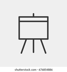Flipchart  icon illustration isolated vector sign symbol
