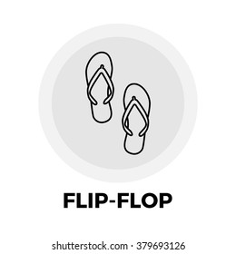 Flip-Flop icon vector. Flat icon isolated on the white background. Vector illustration.