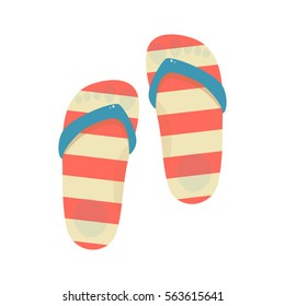Flip-flops isolated on a white background. Vector illustration.