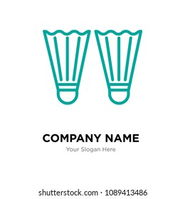 Flippers company logo design template, Business corporate vector icon, flippers symbol