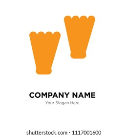 Flippers company logo design template, Flippers logotype vector icon, business corporative