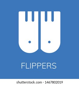 Flippers icon. Editable  Flippers icon for web or mobile.