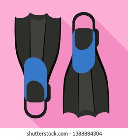 Flippers icon. Flat illustration of flippers vector icon for web design