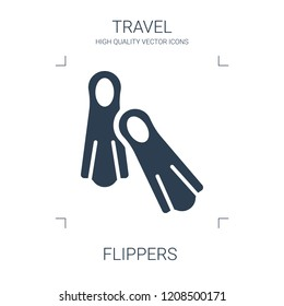 flippers icon. high quality filled flippers icon on white background. from travel collection flat trendy vector flippers symbol. use for web and mobile