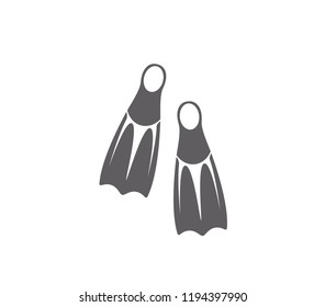 Flippers icon.  isolated diving flippers illustration.