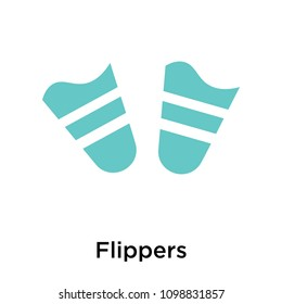 Flippers icon isolated on white background for your web and mobile app design, flippers vector iconic concept