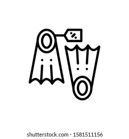 Flippers Icon Outline Vector. Holiday Sale Icons. Online Shop Ikon.
