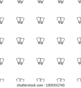 flippers icon pattern seamless white background. Editable outline flippers icon. flippers icon pattern for web and mobile.