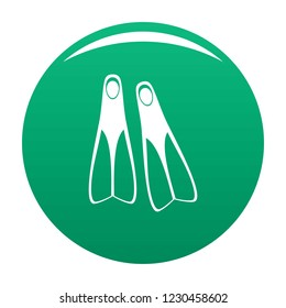 Flippers icon. Simple illustration of flippers vector icon for any design green