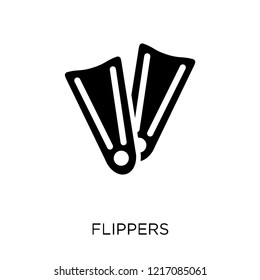 Flippers icon. Flippers symbol design from Nautical collection. Simple element vector illustration on white background.
