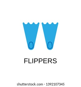 Flippers icon. Flippers symbol design. Stock - Vector illustration can be used for web