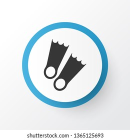 Flippers icon symbol. Premium quality isolated diver shoe element in trendy style.
