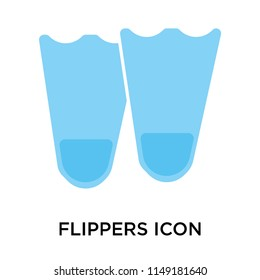 Flippers icon vector isolated on white background for your web and mobile app design, Flippers logo concept
