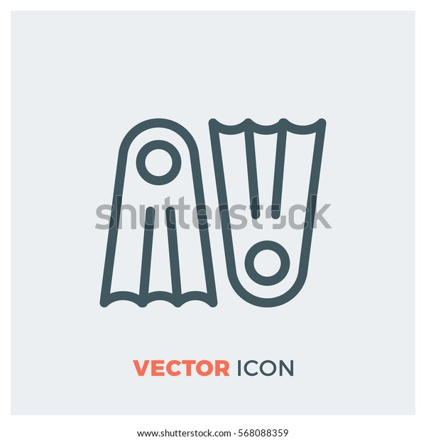 Flippers line vector icon