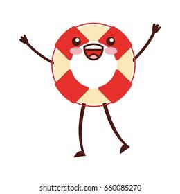 float lifeguard kawaii character