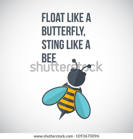 Float Like Butterfly Sting Like Bee Stock Vector Royalty Free