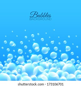 Floating bubbles. Beautiful vector background for your design