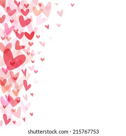 Floating hearts background.