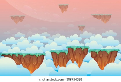 Floating land in the sky game background