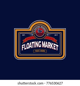 Floating market vector design