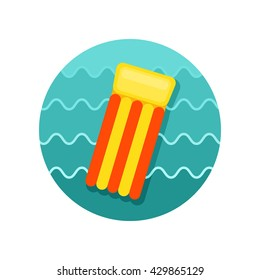 Floating mattress on beach vector icon. Beach. Summer. Summertime. Vacation, eps 10