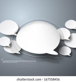Floating Speech Bubble Background